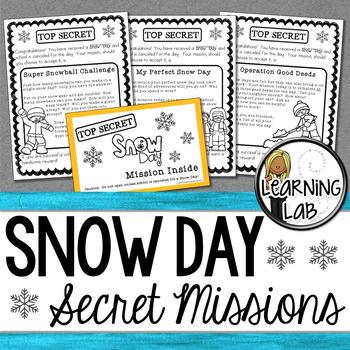 Snow Day - Secret Mission Challenge