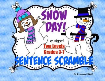 Snow Day!  Sentence Scramble 2 levels