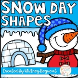 Snow Day Shapes: Craftivity to Reinforce Shape Identification