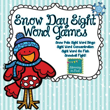 Winter Dolch Sight Word Games