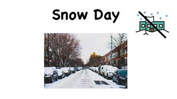 Snow Day Social Story