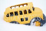 Snow Day Stock Photo - School Bus Stock Photo