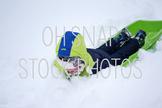 Snow Day Stock Photo - Sledding Stock Photo
