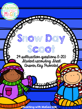 Snow Day Subtraction Scoot Game
