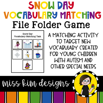 Snow Day Vocabulary Folder Game for Early Childhood Special Education