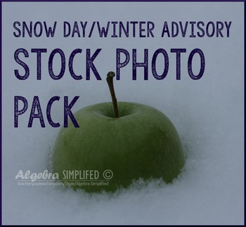Snow Day/ Winter Advisory Stock Photos