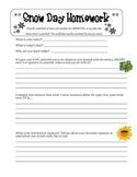 Snow Day Worksheet