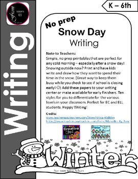 Snow Day Writing