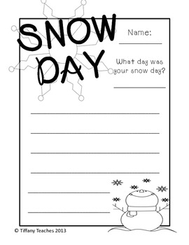 Snow Day Writing *FREEBIE*