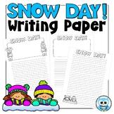 Snow Day Writing Paper Freebie