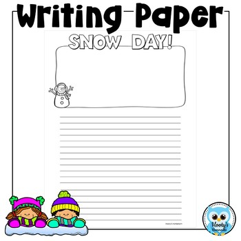 Snow Day Writing Paper Freebie