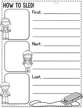 Winter Activities | Winter Writing | Snow Day | Writing Template