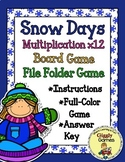Snow Days Multiplication x 12 Board Game