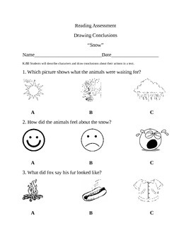 Snow-Drawing Conclusions Assessment