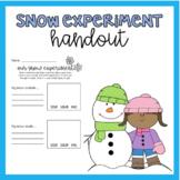 Snow Experiment Handout