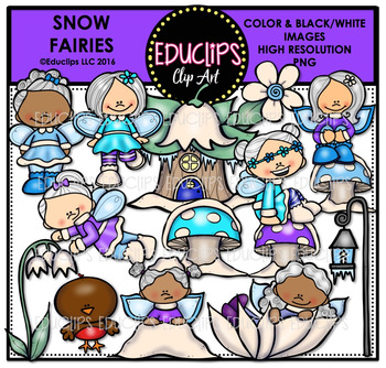 Snow Fairies Clip Art Bundle {Educlips Clipart}