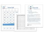 Snow Fall game Grade 3 Multiplication Facts for 2, 5 and 10