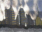 Snow Fallen Cities Drawing Project