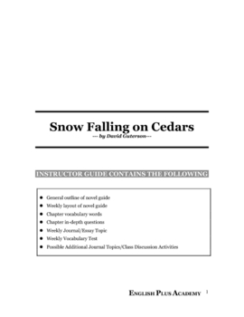 Snow Falling on Cedars by David Guterson Novel Guide