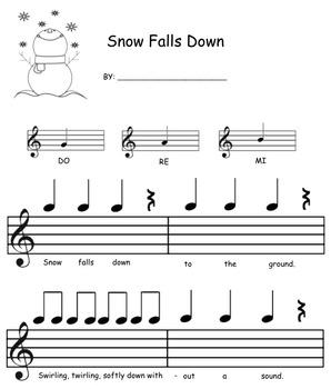 Snow Falls Down: Mi, Re, Do Composition