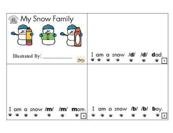 Snow Family Sight Word Mini-Book