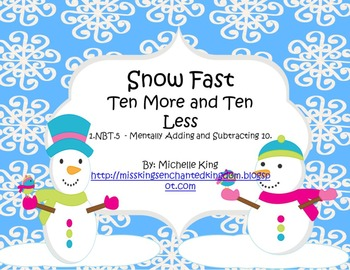 Snow Fast- Mentally Adding and Subtracting 10