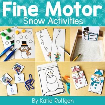 Snow Fine Motor Activities