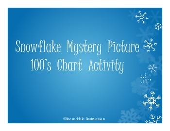 Snow Flake 100's Chart Mystery Picture