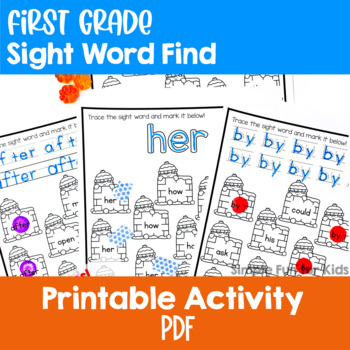 Snow Fort First Grade Sight Word Find