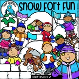 Snow Fort Fun Clip Art Set - Chirp Graphics