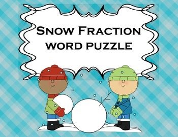 Fractions Snow Day for Math or Reading Centers