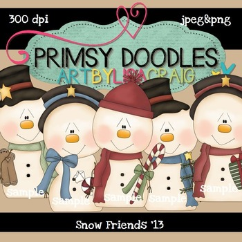 Snow Friends 300 dpi Clipart