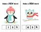 Snow Friends Make-a-Word Phonics Pack (Word Families BUNDLE)
