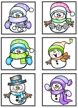 Snow Friends Matching and Math