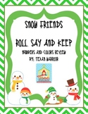 Snow Friends Number and Color Word Game