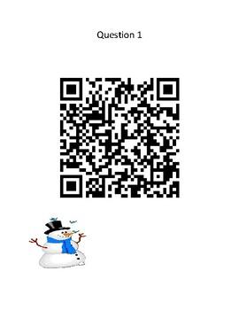 Snow Friends - QR Code Scavenger Hunt - Winter