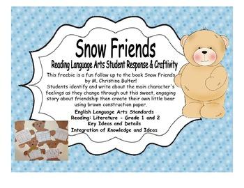 Snow Friends Reading Response Freebie