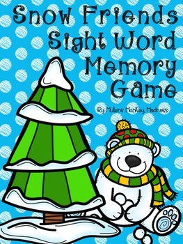 Snow Friends Sight Word Memory Game!