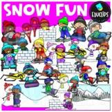 Snow Fun Clip Art Set {Educlips Clipart}