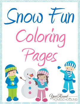 Snow Fun Coloring Pages