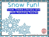 Snow Fun! Literacy and Math Matching Puzzles