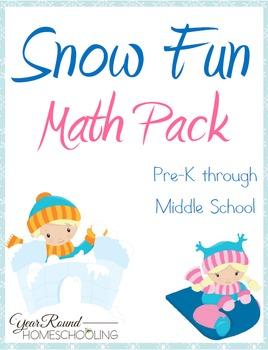 Snow Fun Math Pack (PreK-Middle School)