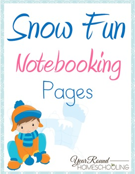Snow Fun Notebooking Pages