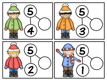 Snow Fun Number Bonds 0-5