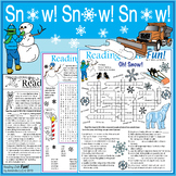 50% OFF – Snow Fun Packet! Vocabulary-rich Puzzles about S