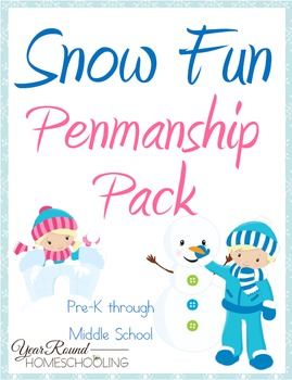 Snow Fun Penmanship Pack (PreK through Middle School)
