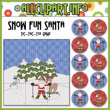 Snow Fun Santa Tic-Tac-Toe Game