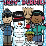 Snowbuddies Literacy and Math Winter Pack for Kinder