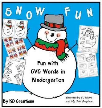 Snow Fun with CVC Words in Kindergarten