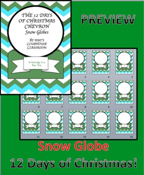 Snow Globe 12 Days of Christmas - Editable!